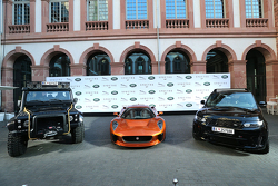 A general view during the presentation of the Jaguar Land Rover vehicles starring in the new Bond film Spectre