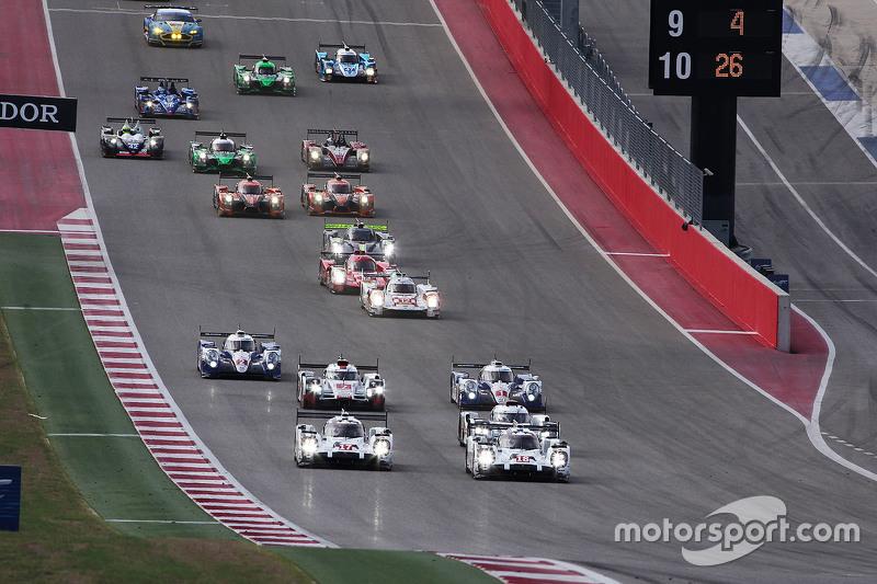 Inicio: #18 Porsche Team Porsche 919 Hybrid: Romain Dumas, Neel Jani, Marc Lieb lidera