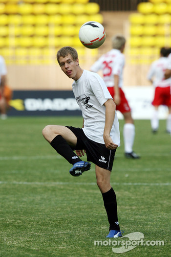 Star Team for Children VS National Team Drivers, Charity Football Match, Louis II StadiumAlbert II: Sebastian Vettel, Test Driver, BMW Sauber F1 Team