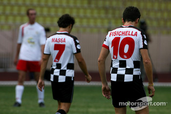 Star Team for Children VS National Team Drivers, Charity Football Match, Louis II StadiumAlbert II: Giancarlo Fisichella, Renault F1 Team and Felipe Massa, Scuderia Ferrari