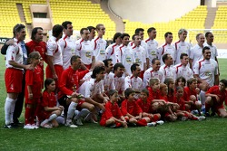 Star Team for Children VS National Team Drivers, Charity Football Match, Louis II StadiumAlbert II: Star Team for Children