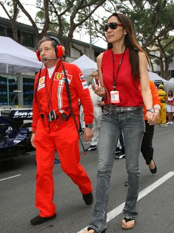 Jean Todt, Scuderia Ferrari, Ferrari CEO and Michelle Yeoh Girlfriend of Jean Todt
