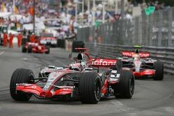 Fernando Alonso, McLaren Mercedes, MP4-22, Lewis Hamilton, McLaren Mercedes, MP4-22 and Felipe Massa, Scuderia Ferrari, F2007