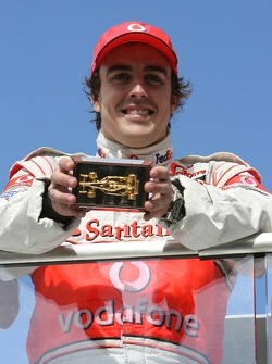 Fernando Alonso, McLaren Mercedes with a golden F1 Car