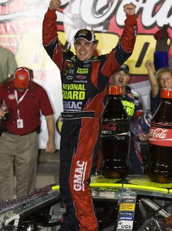 Victory lane: race winner Casey Mears celebrates