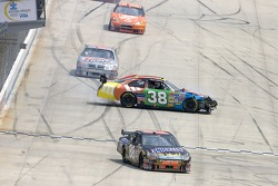 David Gilliland and Ricky Rudd wreck on the frontstretch