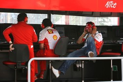 Michael Schumacher, Scuderia Ferrari, Advisor, on the pitwall