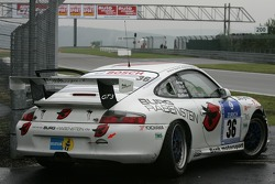 #36 Bonk Motorsport Porsche 996 GT3: Wolf Silvester, Matthew Marsh in trouble after the start