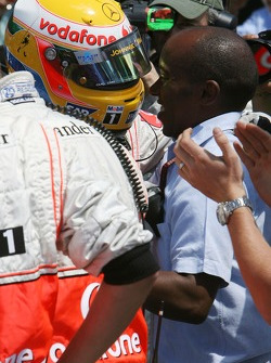 Pole Position, Lewis Hamilton, McLaren Mercedes, MP4-22 with Anthony Hamilton, Father of Lewis Hamilton