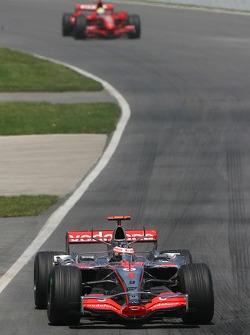 Fernando Alonso, McLaren Mercedes, MP4-22 and Felipe Massa, Scuderia Ferrari, F2007