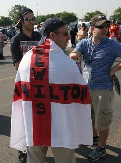 A Lewis Hamilton, McLaren Mercedes, fan