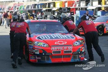 Dupont Chevy of Jeff Gordon is pushed