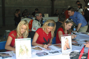 Playboy playmates sign autographs
