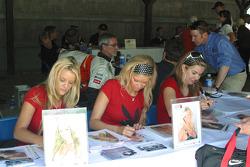 Playboy playmates sign autographs
