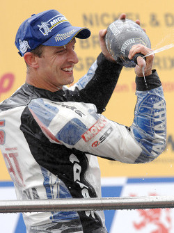 Podium: Champagne for Colin Edwards