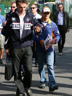 Robert Kubica,  BMW Sauber F1 Team, Heikki Kovalainen, Renault F1 Team