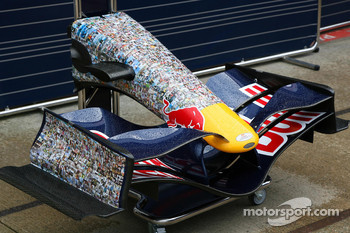 Red Bull Racing, run with different livery, faces on the car