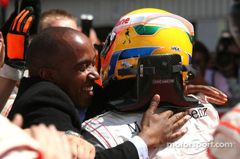Lewis Hamilton, McLaren Mercedes and his father Anthony