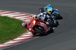 Casey Stoner, Marco Melandri and John Hopkins