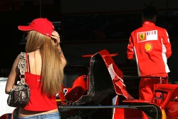 Quite a nice girl in the Ferrari pits