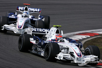 Robert Kubica,  BMW Sauber F1 Team , Nick Heidfeld, BMW Sauber F1 Team