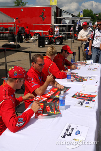 Gianmaria Bruni, Eric Hélary, Mika Salo, and Jaime Melo