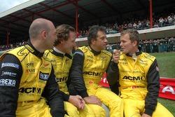 Fabrizio Gollin, Mike Hezemans, Jean-Denis Deletraz and Marcel Fassler