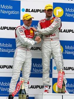 Podium: Martin Tomczyk, Audi Sport Team Abt Sportsline and Alexandre Premat, Audi Sport Team Phoenix