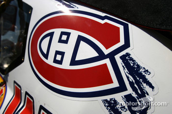 Montreal Canadiens hockey club logo on the car of Boris Said