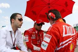 Felipe Massa, Scuderia Ferrari, Nicholas Tombazis, Scuderia Ferrari, Chief Designer, Rob Smedly,, Scuderia Ferrari, Track Engineer of Felipe Massa