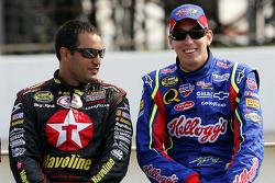 Juan Pablo Montoya and Kyle Busch
