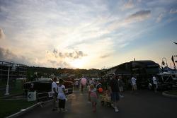 General ambiance at the Watkins Glen fan fest