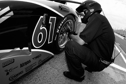 AIM Autosport team member at work