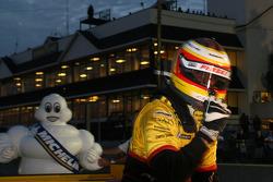 Timo Benhard celebrates