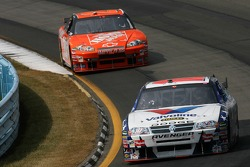Patrick Carpentier leads Tony Stewart