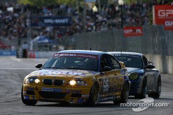 #96 Turner Motorsport BMW M3: Bill Auberlen, Chris Gleason and #41 TRG Porsche 997: Ted Ballou, Andy Lally