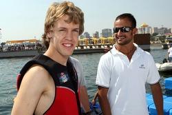 Sebastian Vettel, Scuderia Toro Rosso and Vitantonio Liuzzi, Scuderia Toro Rosso