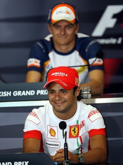 FIA press conference: Felipe Massa, Scuderia Ferrari and Heikki Kovalainen, Renault F1 Team