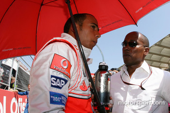 Lewis Hamilton, McLaren Mercedes and Anthony Hamilton, Father of Lewis Hamilton