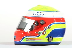 Oliver Turvey, driver of A1 Team Great Britain, Helmet