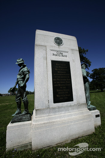 One of the many monuments on Belle Isle