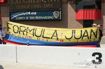 Fans show their support for Juan Pablo Montoya