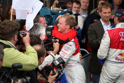 Third place Mattias Ekström celebrates