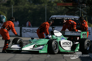 Ed Carpenter spins: IndyCar safety team to the rescue