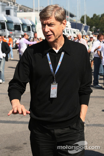 Arsene Wenger, Manager of Arsenal football club- Formula 1 World Championship, Rd 13, Italian Grand Prix, Saturday