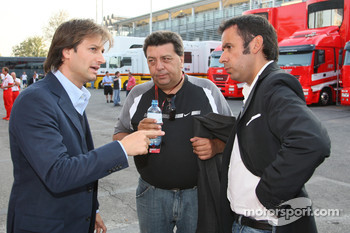 Danny Bahar, Scuderia Ferrari, Head of Marketing and Tony Teixeira, A1GP