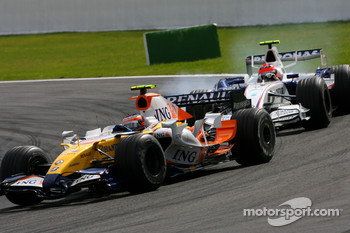 Heikki Kovalainen, Renault F1 Team, Robert Kubica,  BMW Sauber F1 Team