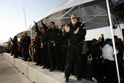 Riley-Matthews Motorsports team members celebrate the win