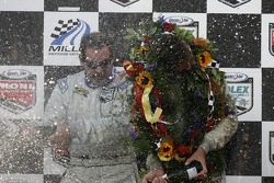 DP podium: champagne for Jim Matthews and Marc Goossens
