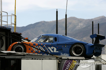 RVO Motorsports Pontiac Riley at the back of its hauler
